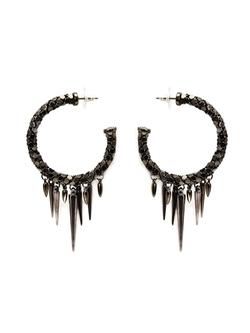 Michael Schmidt   - Mesh Spike Hoop Earrings