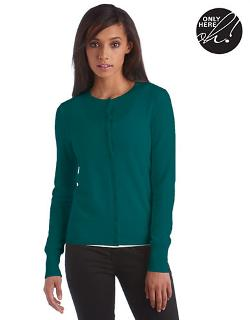 Lord & Taylor - Fall Brights Collection Cashmere Crewneck Cardigan
