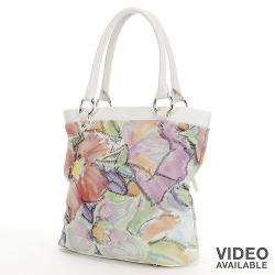 Pava - Floral Leather Tote
