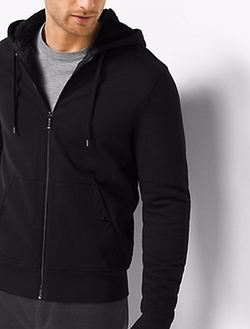 Michael Kors Mens - Sherpa-Lined Zip-Up French Terry Hoodie