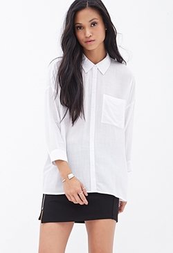 Forever 21 - V-Cutout Woven Shirt