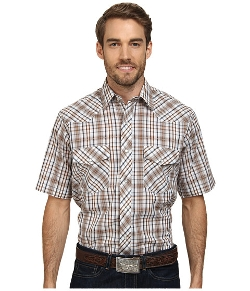 Roper - Neutral Plaid Shirt