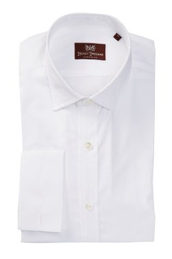 Hickey Freeman  - Spread Collar Solid Dress Shirt