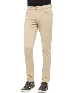 Hudson Jeans - Blake Five-Pocket Slim-Straight Jeans, Beige