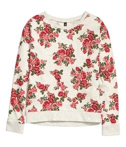 H&M - Floral Sweatshirt