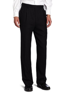 Louis Raphael - Stretch Wool Solid Pleated Dress Pant