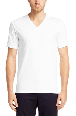 HUGO - Stretch Cotton V-Neck T-Shirt