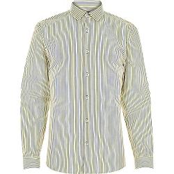 River Island - Yellow Navy Stripe Shirt