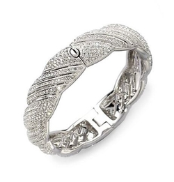 Adriana Orsini  - Pavé Twist Bangle Bracelet