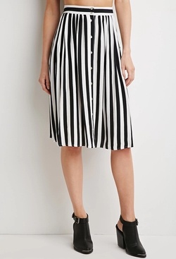 Forever21 - Contemporary Striped Midi Skirt