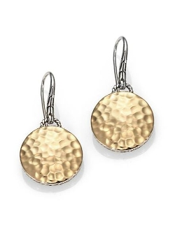 John Hardy - Palu Hammered Disc Drop Earrings