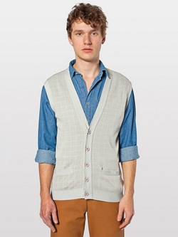 American Apparel - Knit Long Grid Vest