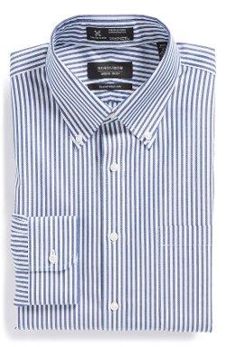 Nordstrom  - Smartcare Wrinkle Free Traditional Fit Stripe Dress Shirt