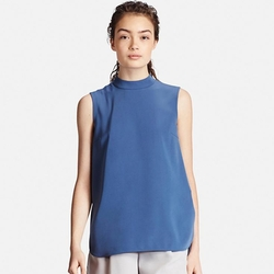 Uniqlo - High Neck Sleeveless Blouse
