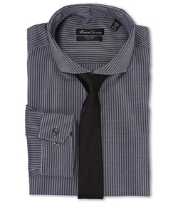 Kenneth Cole New York - Slim Fit Stripe Dress Shirt