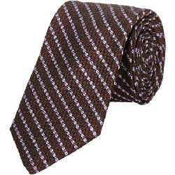 BARNEYS NEW YORK  - Chain-Striped Neck Tie