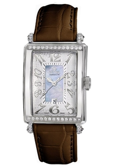 Gevril - Blue Mother-Of-Pearl Genuine Alligator Strap Watch
