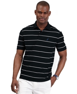 Nautica  - Striped Performance Deck Pique Polo Shirt