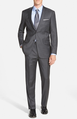 Hart Schaffner Marx  - Classic Fit Solid Wool & Cashmere Suit
