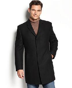 Kenneth Cole  - New York Coat, Elan Solid Wool-Blend Overcoat Slim-Fit