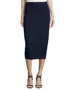Eileen Fisher  - Silk Organic Cotton Interlock Pencil Skirt