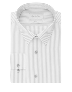 Calvin Klein  - Slim Fit Stripe Dress Shirt
