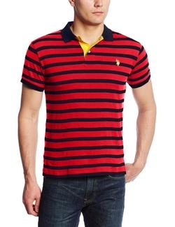 U.S. Polo Assn. - Cotton Slub Striped Polo Shirt
