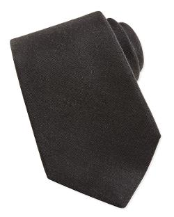 Kiton  - Cashmere/Silk Woven Tie, Gray