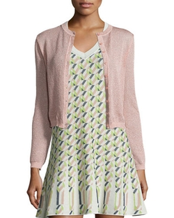 M Missoni - Solid Metallic Mesh Cardigan