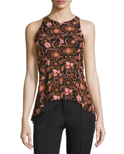 A.L.C.  - Stuart Sleeveless Floral Silk Top