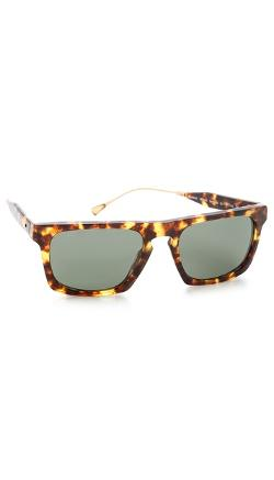 Oliver Peoples  - West San Luis Dark Tortoise Sunglasses