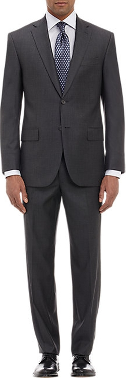 Barneys New York - Houndstooth Two-Button Suit