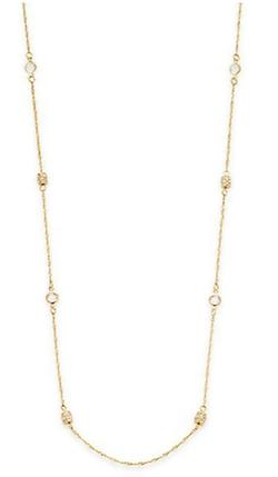 Saks Fifth Avenue - Goldtone Twisted Bezel Station Necklace