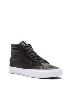 Vans - Sk8 Hi Reissue Zip Premium Leather Sneakers