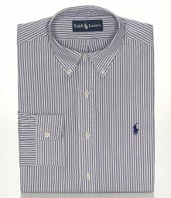Polo Ralph Lauren  - Classic-Fit Striped Oxford Button-Down Collar Dress Shirt