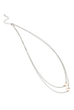 Forever 21 - Geo Pendant Layered Necklace