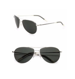 Oliver Peoples - Benedict Polarized Metal Aviator Sunglasses