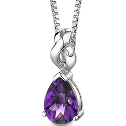 Peora - Amethyst Pendant Necklace