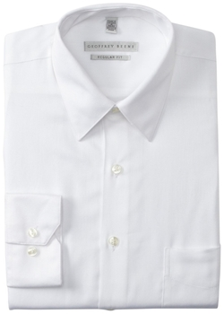 Geoffrey Beene  - Regular Fit Sateen Solid Dress Shirt