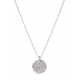 Touch of Silver  - Pavé Heart Motif Pendant Necklace