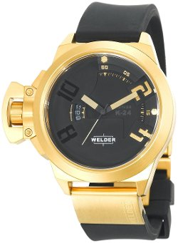 Welder - Analog Gold Ion-Plated Stainless Steel Round Watch