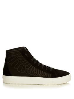 Marcelo Burlon - Maipu Suede High-Top Trainers