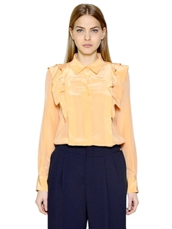 See By Chloé - Ruffled Silk Crepe De Chine Shirt