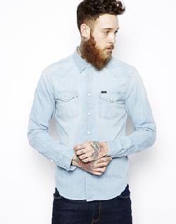 Lee  - Denim Shirt Slim Fit Western Blue Dust