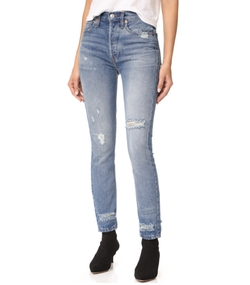 Re/Done - High Rise Rigid Skinny Jeans
