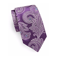 Samuelsohn Made In Italy - Large Paisley Silk Tie