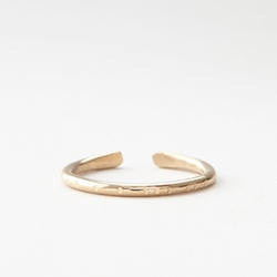 Another Feather - Gold Cuff Ring