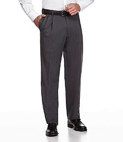 Hart Schaffner  - Marx Tailored Expander Waist Pleated Dress Pants