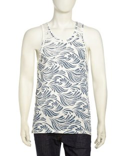 Cohesive  - Wave-Print Jersey Tank Top