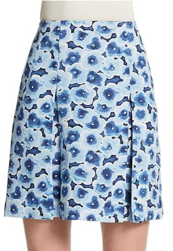 Marc By Marc Jacobs - Floral Print Pleated Mini Skirt